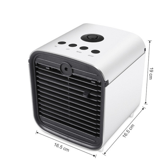 Mini Air Conditioner Portable Desktop Air Conditioning Cooler Home Office Bedroom Air Cooler With Ice Cube Quick Air Conditioner