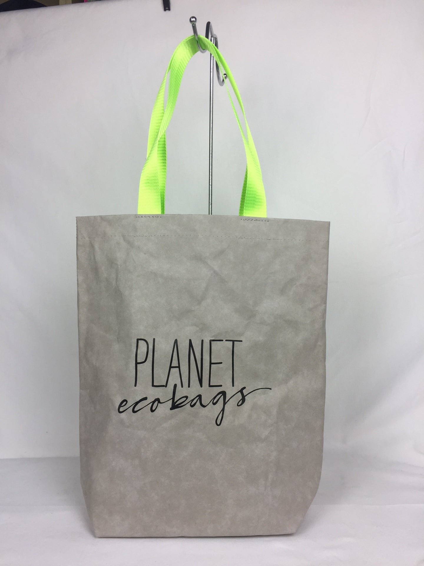 Grey Washable Paper Tote Bag