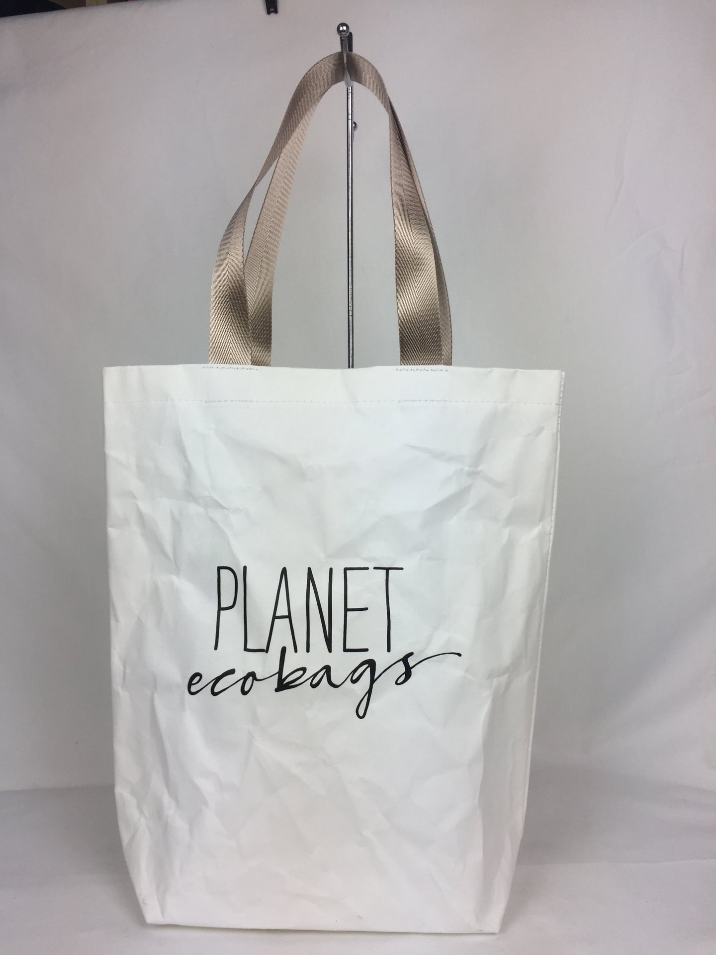 White Washable Paper Tote Bag