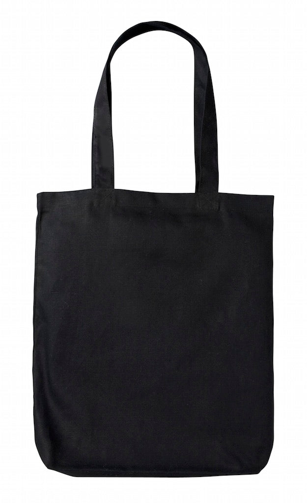 Planet Tote Bag - Black Heavy Canvas