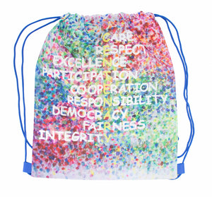 Planet Drawstring Backpack - Sublimated Polyester
