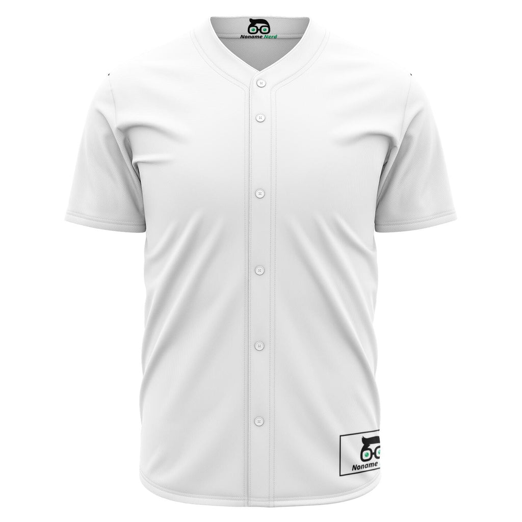 Custom Plain White Gamer Jersey (button down up to 5XL)