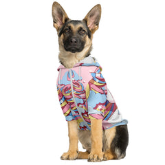 Unicorn Gamer Dog Hoodie
