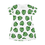 Monstera T-Shirt Dress