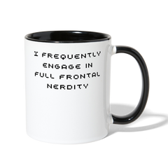 Full Frontal Nerdity Coffee Mug - white/black