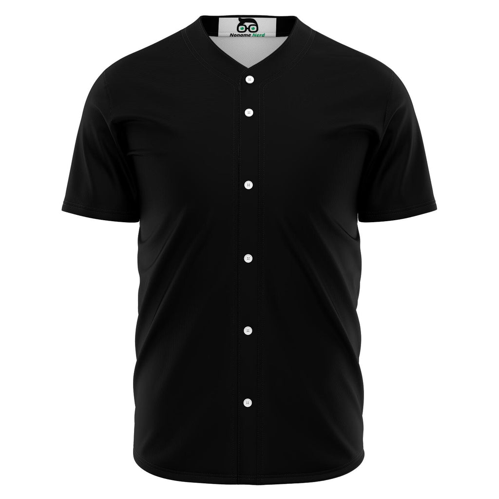 Custom Plain Black Gamer Jersey (button down up to 5XL)