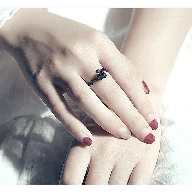 Gun Black Rose Ring