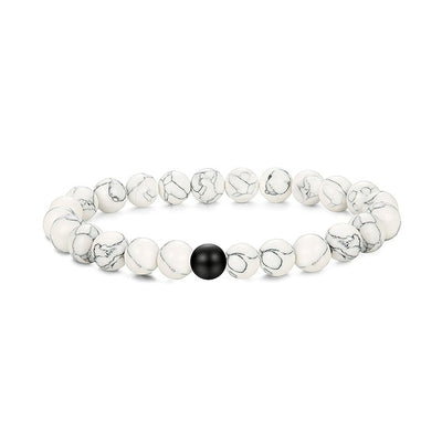 Yin Yang Natural Stone Bracelet Set