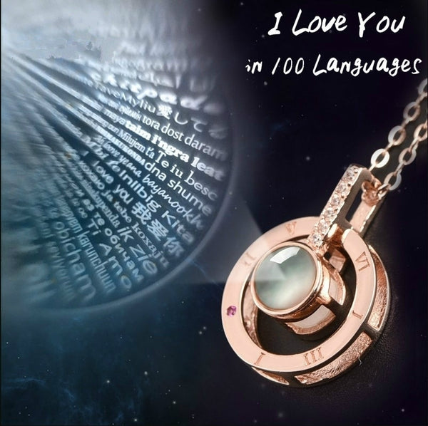 I Love You 100 Languages Necklace
