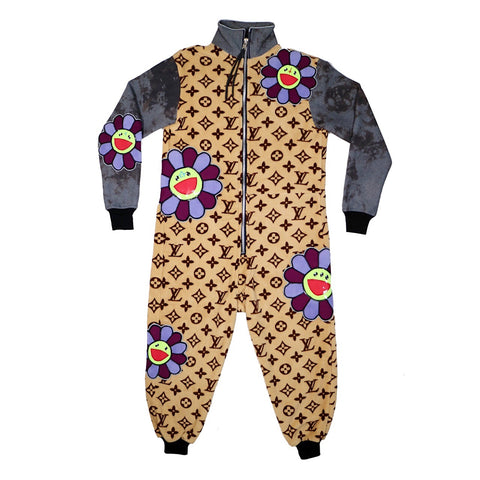 fleecy flowers coveralls