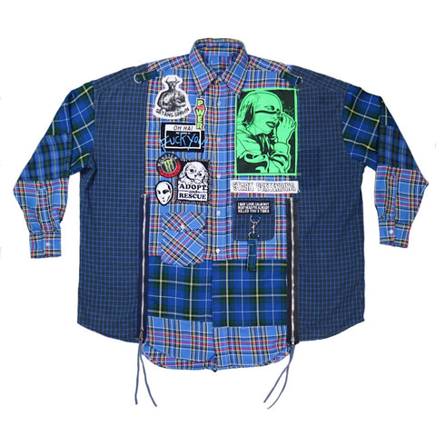 power plaid fat button up