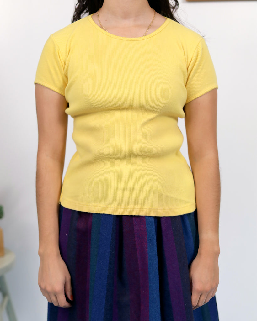 Vintage Yellow Polo Shirt