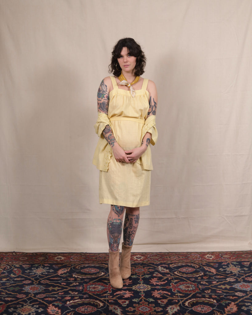 Vintage Canary Yellow Set