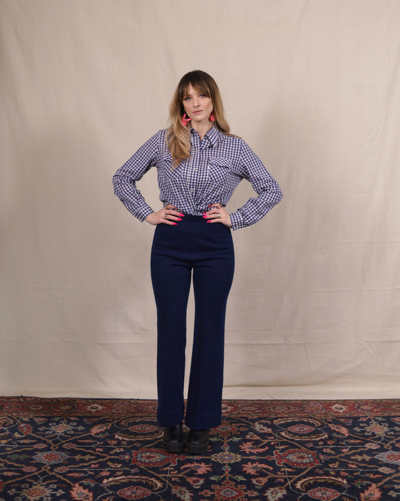 Vintage Navy Stretch Pants