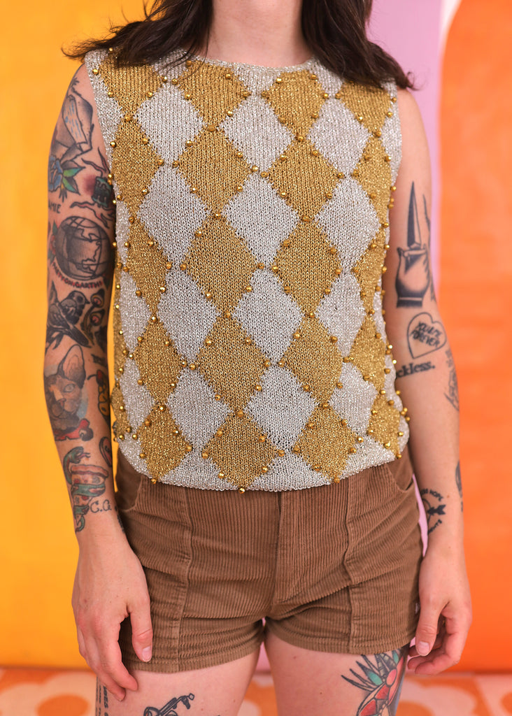 Orange Suedette Blazer