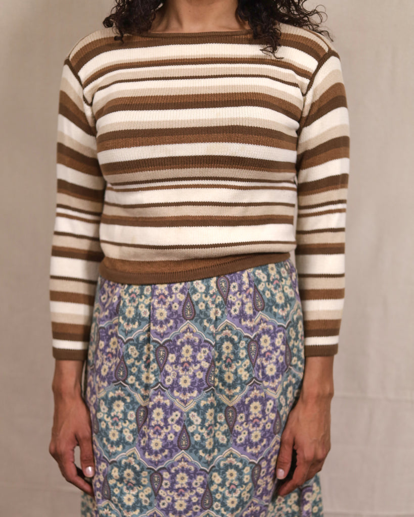 Earth Toned Striped Knit