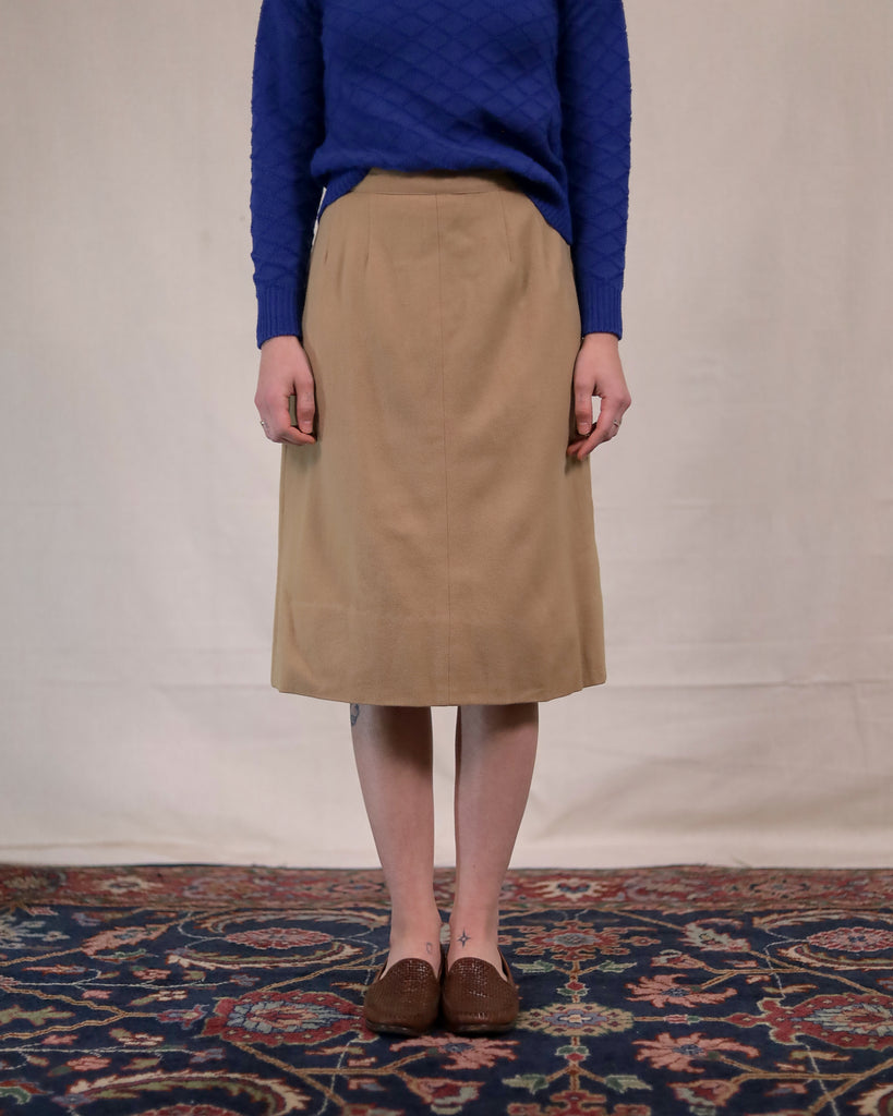 Vintage Tan Tube Skirt