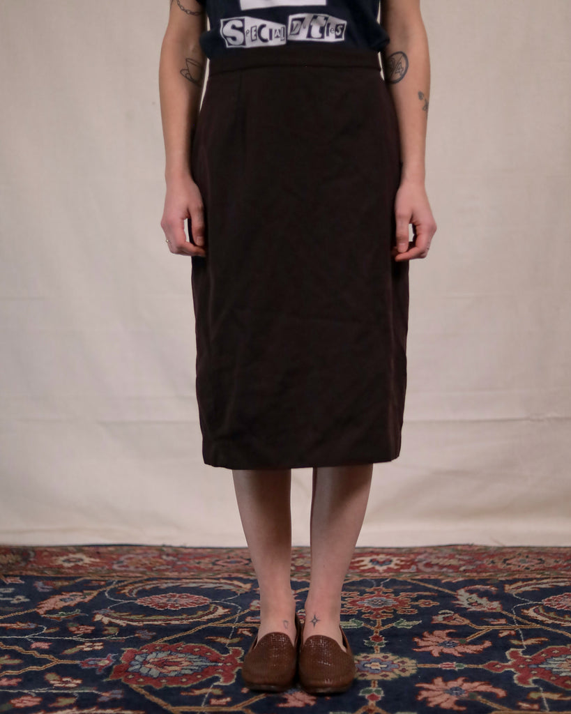 Vintage Brown Tube Skirt