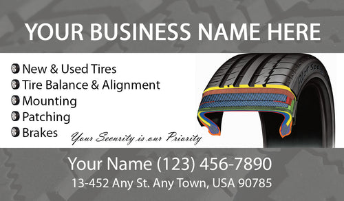 Tires and wheels Business Cards 01
