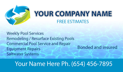 Pool Service Business Card 01