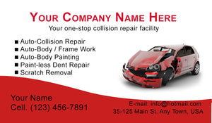 Auto Body Collision Business Cards 01