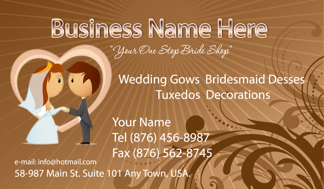 Bridal Shop Business Cards 01