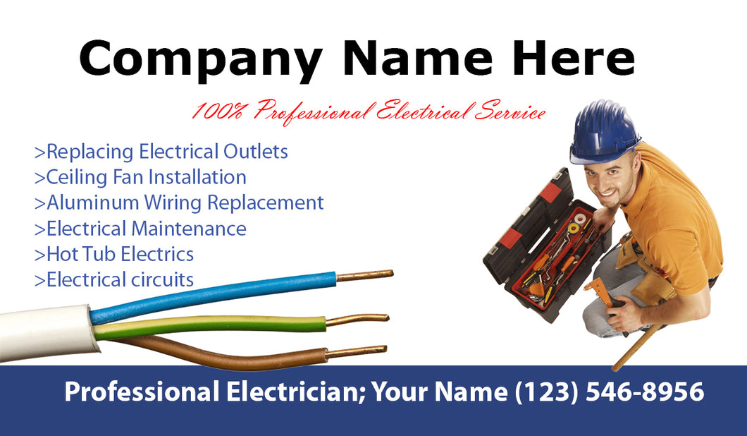 electrician business cards 01 - Electrician Business Cards