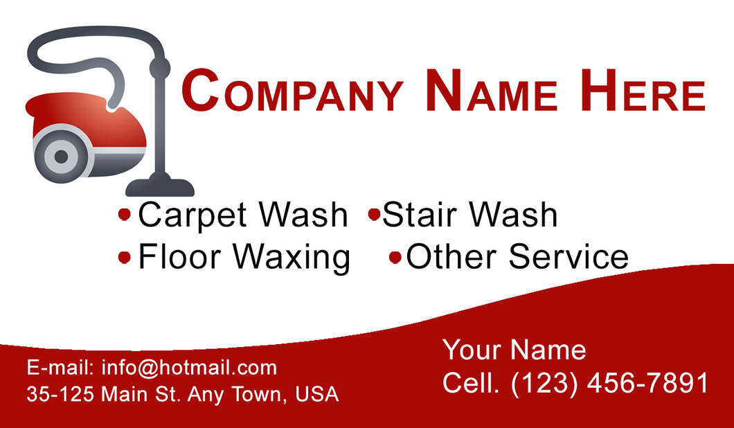 Carpet Cleaning Business Cards 01