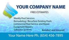 Load image into Gallery viewer, Pool Service Business Card 02
