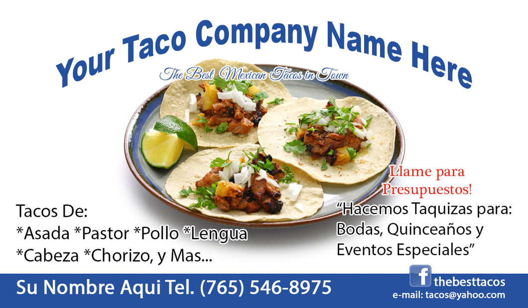 Tacos Business Card 02