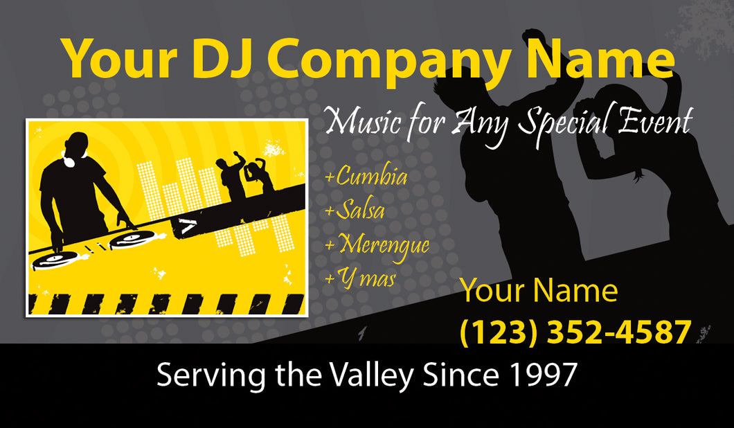 Disc Jokey Business Cards 02