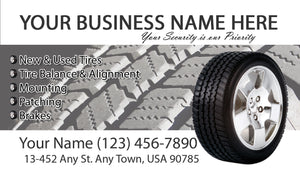 Tires and wheels Business Cards 02