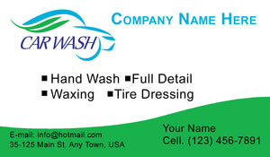 Car Wash Business Cards 02