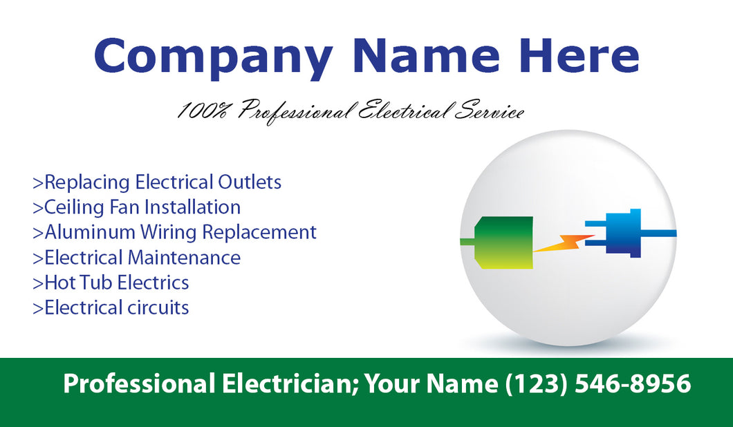 Electrician Business Cards 03