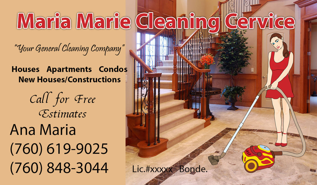 House Cleaning Business Cards 03