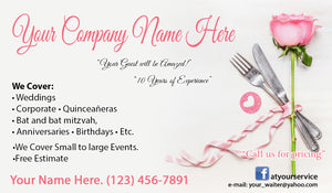 Banquet Server Business Cards 03