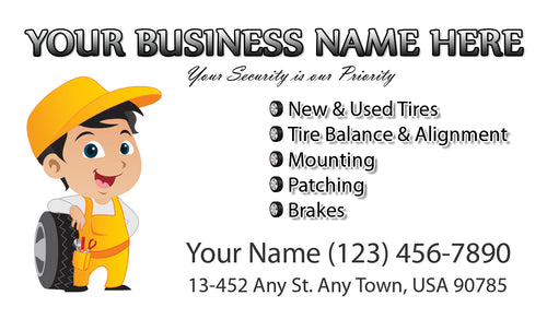 Tires and wheels Business Cards 03