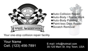 Auto Body Collision Business Cards 03