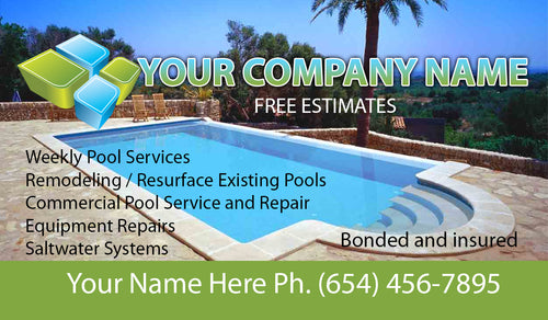 Pool Service Business Card 04