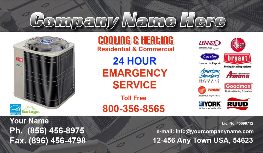 Air Conditioning Business Cards 04