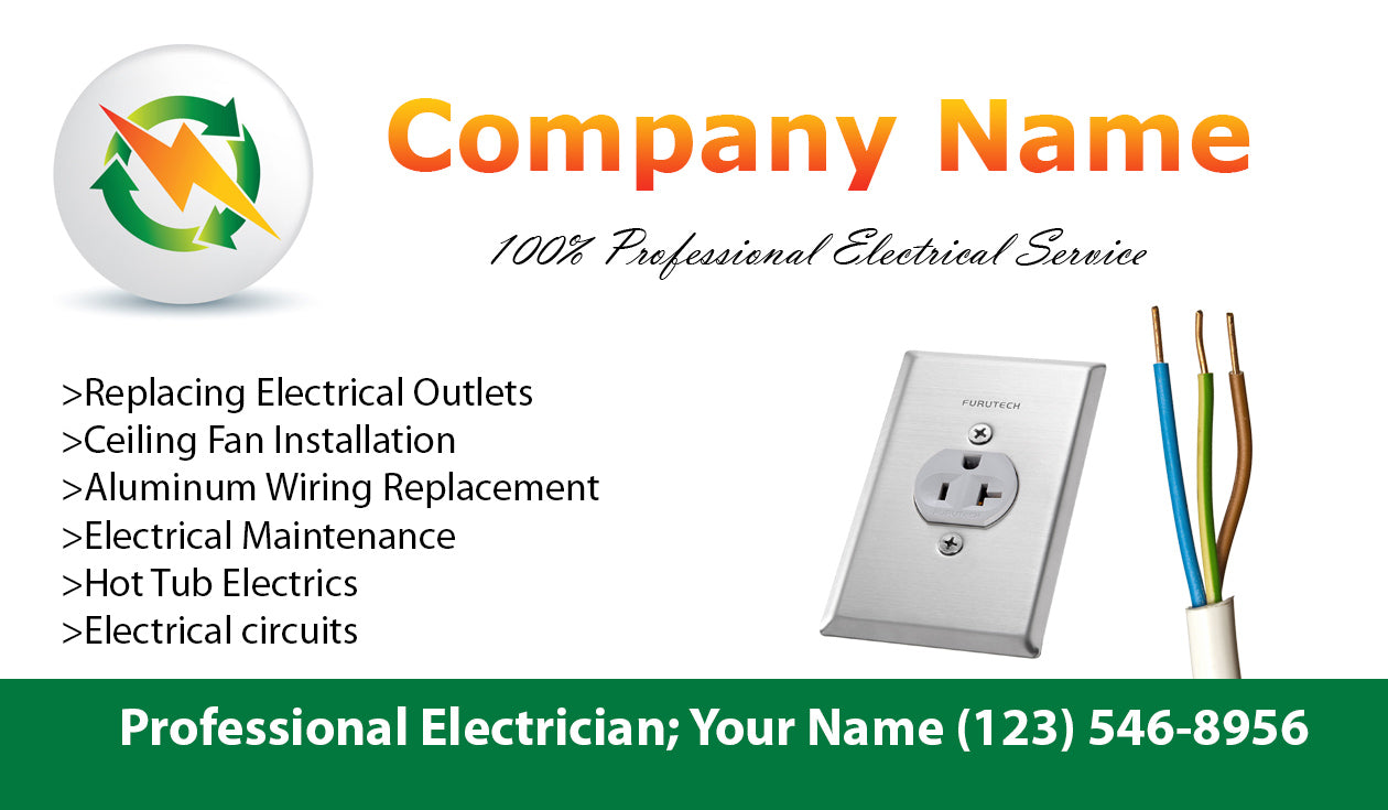 Electrician Business Cards 04 Mariposa Printing Replacing Aluminum Wiring Load Image Into Gallery Viewer