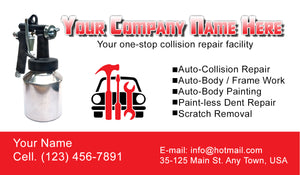 Auto Body Collision Business Cards 04