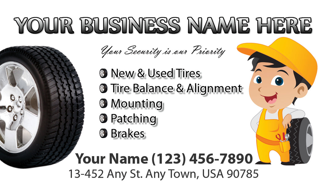 Tires and wheels Business Cards 04