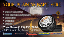 Load image into Gallery viewer, Tires and wheels Business Cards 05