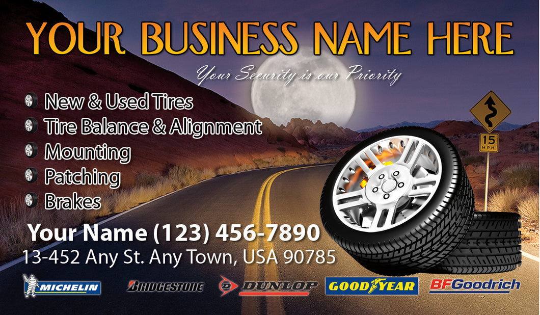 Tires and wheels Business Cards 05