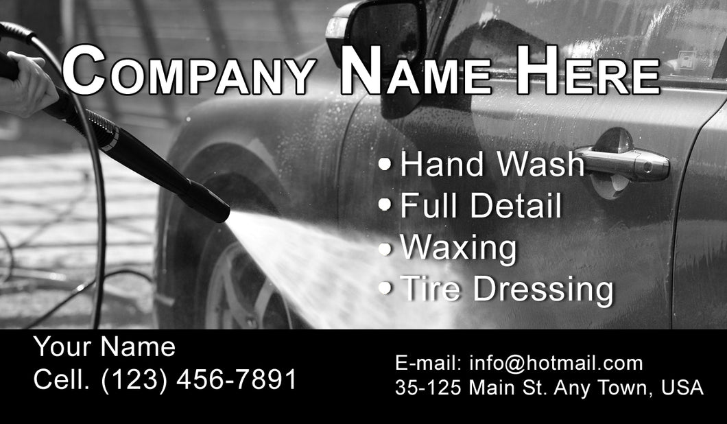 Car Wash Business Cards 05