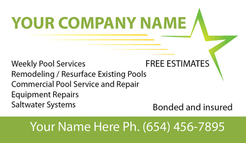 Pool Service Business Card 05