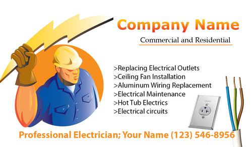 Electrician Business Cards 05