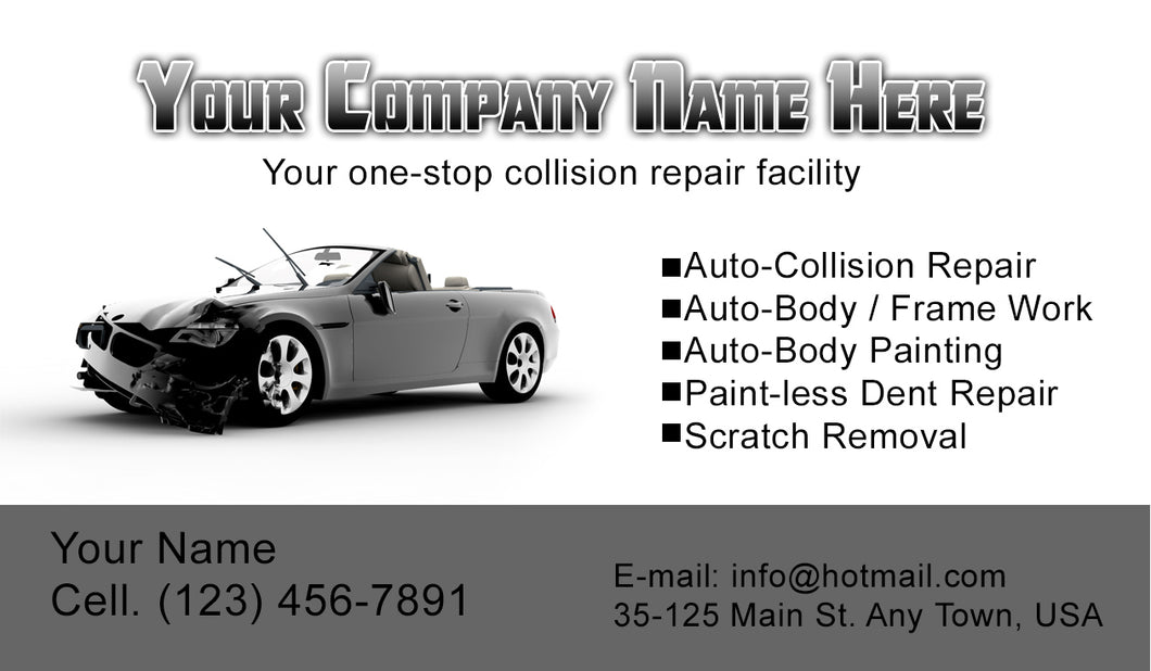 Auto Body Collision Business Cards 05