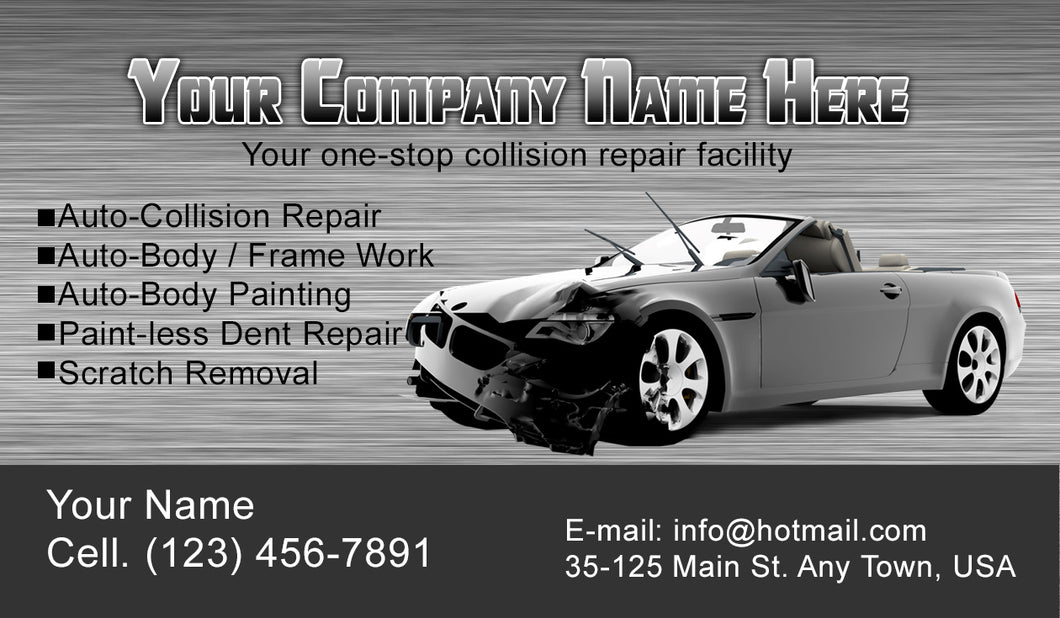 Auto Body Collision Business Cards 06